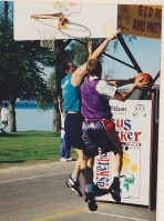 Can you learn to write in the same way you can learn to play ball?  Me in my younger days.