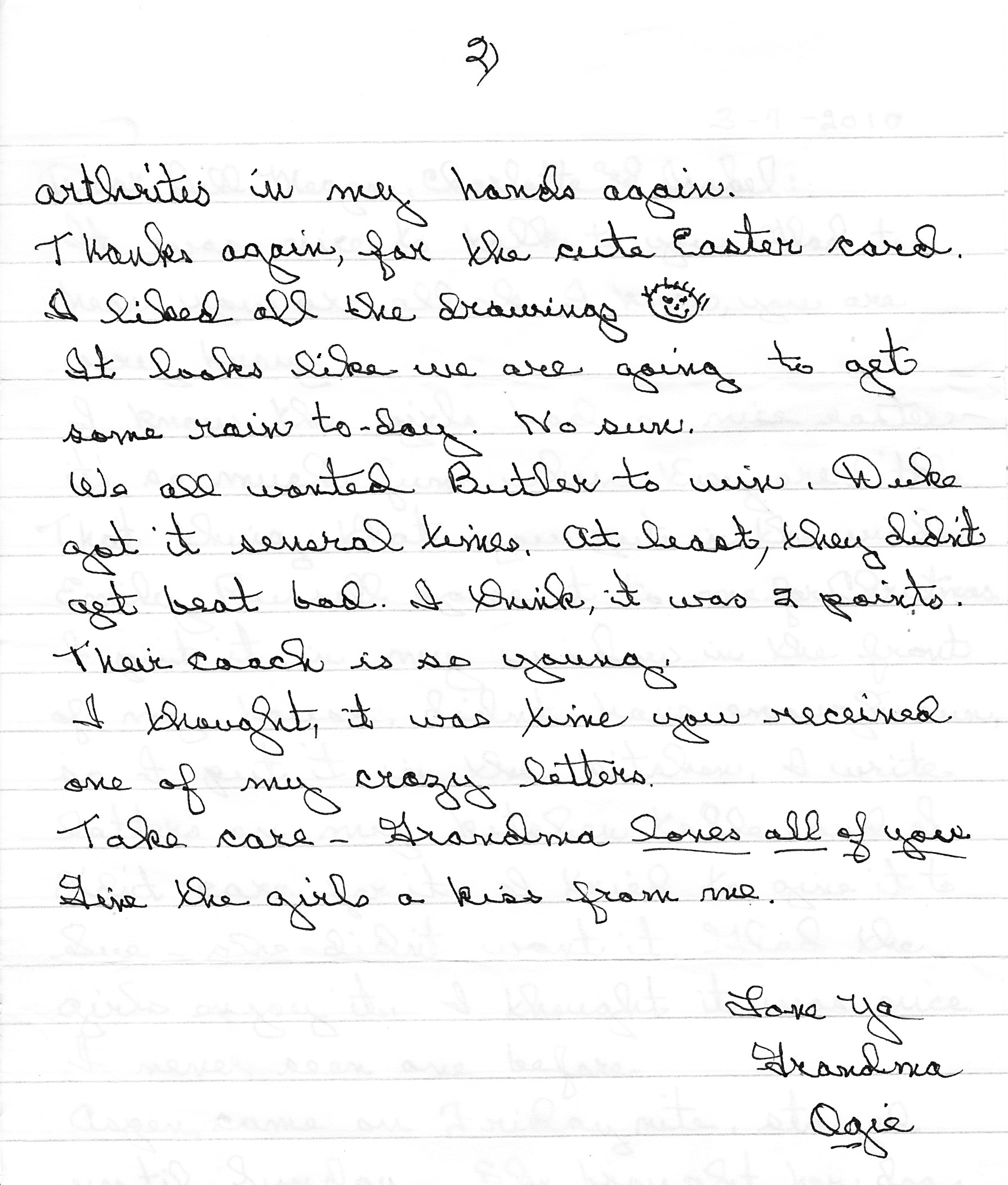 letter to grandma Good morning, zak it's 4:30 am march 10th since you & your dad are composing the history on victor construction, i thought i'd tell you the entire history since i was there from day one it was december 1954 when poppa sat with me and said he wanted to leave his job but his boss had drawn up a contract for the.