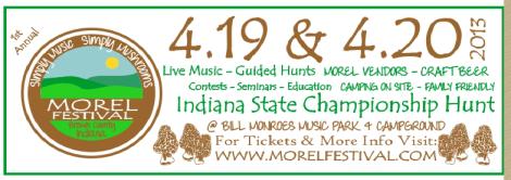 morel mushroom festival Brown County Indiana Mushroom Hunter