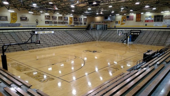 Loogootee High School gymnasium, Indiana, gym, basketball, Coach, Kent Chezem, Bill Torgerson