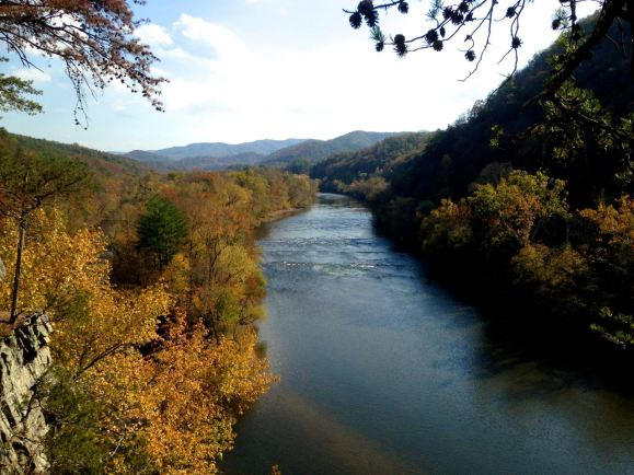 French Broad River, Paint Rock