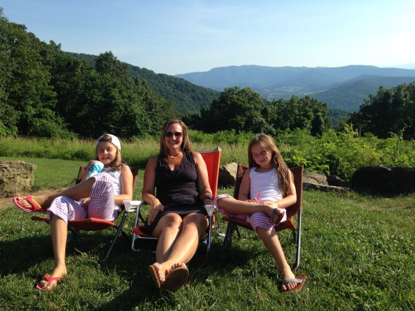 Skyline Drive, Virginia, picnic spot, dinner